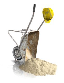 kruiwagen zand
